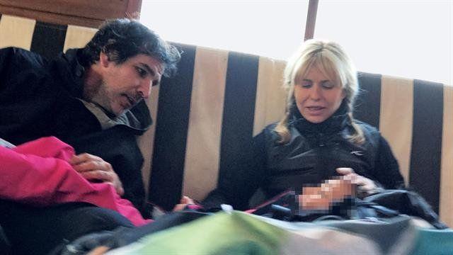 Las vacaciones en la nieve de Karina Rabolini junto a su nuevo amor que es funcionario del PRO