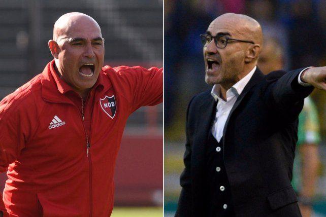 Los entrenadores Juan Manuel Llop y Paolo Montero.