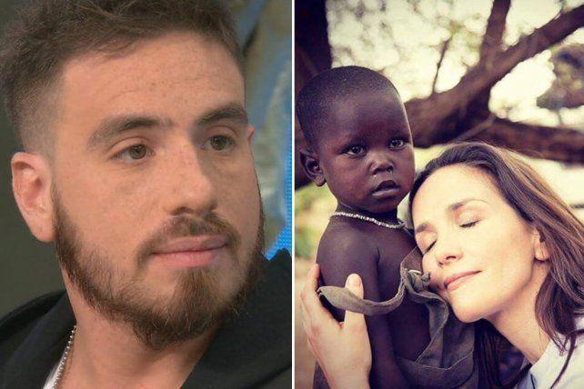 Enojado. Fede Bal respondió ante las imágenes de Natalia Oreiro en África.