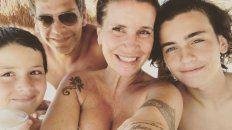 flor pena poso en modo vacaciones junto a su pareja, sus hijos y su enorme panza