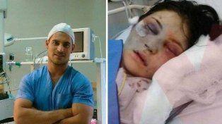 El anestesista y la chica que lo denunció.