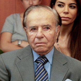 El expresidente de la Nación y actual senador nacional, Carlos Saúl Menem.