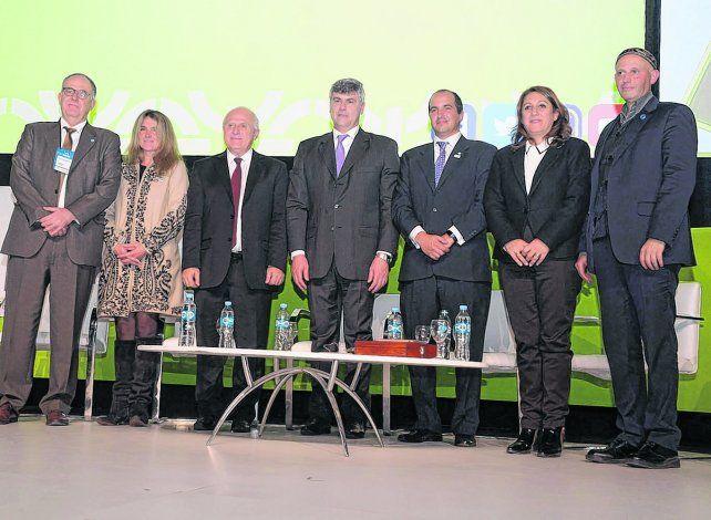 Inauguración. Autoridades nacionales y locales participaron de la apertura del 25º congreso la Asociación Argentina de Productores en Siembra (Aapresid).