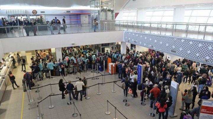 A pleno. El aeropuerto empieza a cambiar la fisonomía gracias a la conectividad con otras terminales.