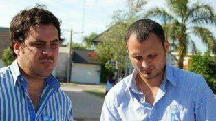 Candidato. Huber (derecha) junto al diputado Germán Bacarella.