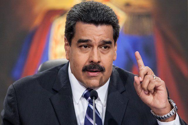 El presidente de Venezuela apuntó contra Macri.