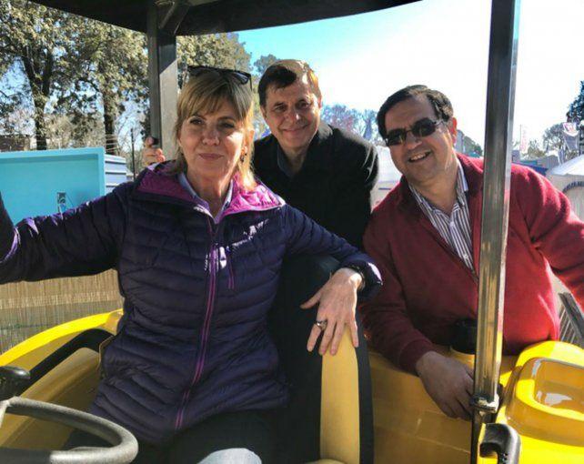 Por la provincia. La ex jueza Rodenas visitó la Rural de Reconquista.