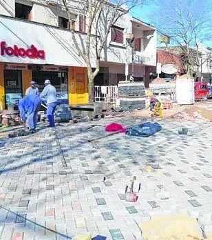 La obra sobre calle Belgrano.