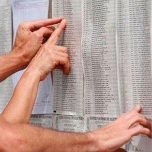 se puede consultar el padron electoral 2017 para conocer donde se vota en las paso del domingo