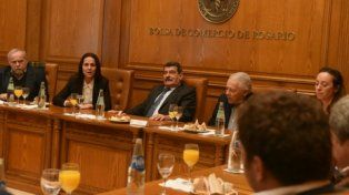 en agenda. Anita dijo que la Nación prioriza obras para Rosario.