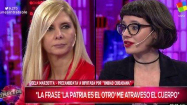 Fuerte cruce entre Gisela Marziotta y los panelistas de Intratables