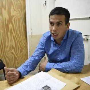 Monchi Machuca en un diálogo con La Capital en la cárcel.