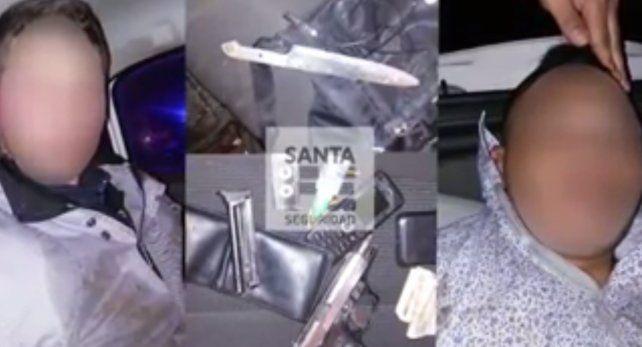 Dos hombres fueron detenidos tras un violento intento de robo y un tiroteo con policías