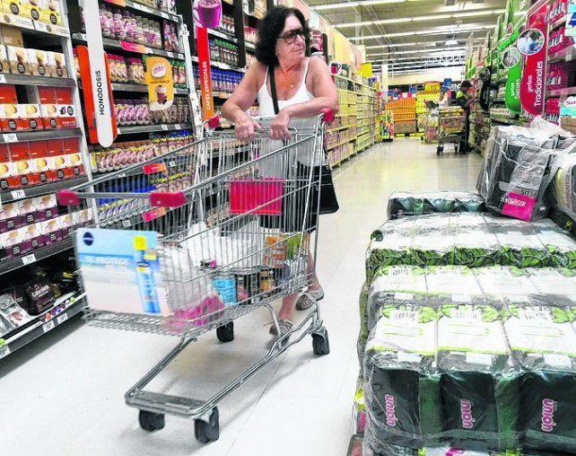 Góndola feroz. La suba de precios se sintió fuerte en el mes de julio.