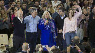 Carrió estuvo acompañada por el presidente Mauricio Macri