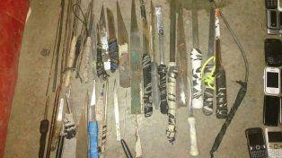 Incautaron 137 celulares, 38 facas y plantas de marihuana en una requisa carcelaria sorpresa