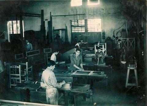 Recuerdo. Los talleres de la otrora Escuela Industrial de Gálvez.