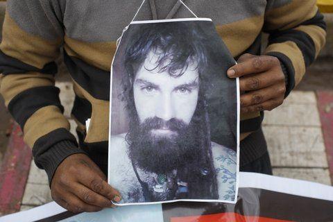 santiago maldonado. El joven desapareció hace nueve días en la comunidad mapuche de Lof Cushamen.