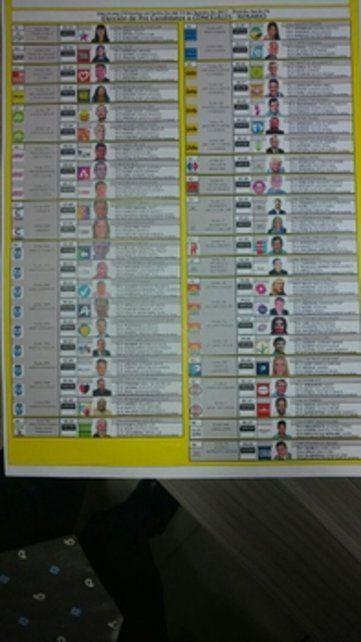 Para que el voto sea válido hay que marcar una sola opción de la lista.