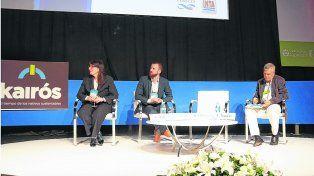 Carne 2.0. Consolación Otaño, del Ministerio de Agroindustria, y Gabriel Morales, del investigador del Conicet y de la UBA.