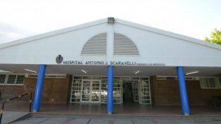 El hospital mendocino donde la víctima se encuentra internada. Fue llevada por su madre.