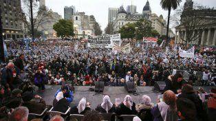 La manifestación fue convocada por organismos defensores de los derechos humanos que reclaman aparición con vida.