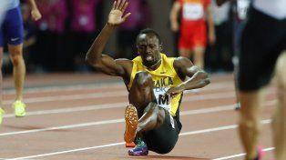 La caída. El jamaiquino no pudo llegar a la meta en el 4x100 de relevos que fue oro para Gran Bretaña.