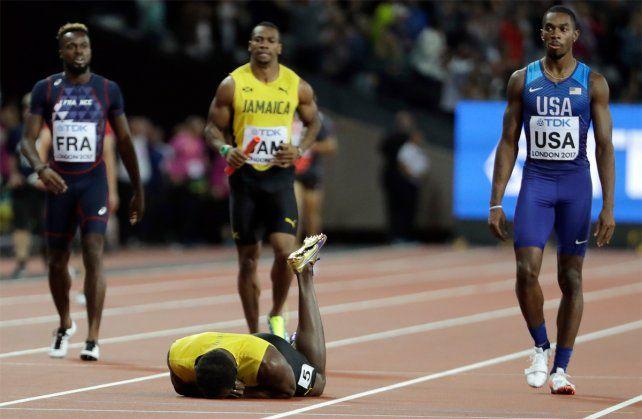 Las mejores imágenes de la caída de Usain Bolt en la última prueba de su carrera