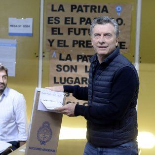 voto macri y espera que todos los argentinos se expresen en todos lados con alegria