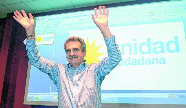 Vencedor. El Chivo Rossi sacó más votos él solo que el candidato del Frente Progresista. El kirchnerismo vuelve a hegemonizar la opción del PJ.