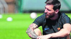 Cara preocupada. Messi se entrenó con Barcelona luego de la derrota del domingo.