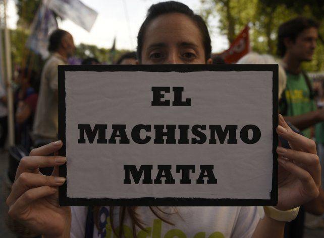 Una de las marchas en contra de la violencia machista que se hicieron en Rosario.