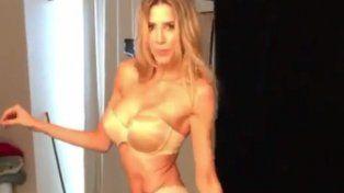 en un video de backstage guillermina valdes mostro sus curvas con sensual lenceria