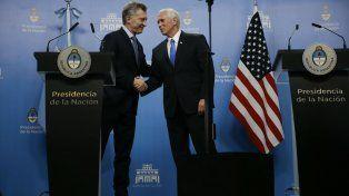 El vice estadounidense felicitó al mandatario nacional por su transformación económica.