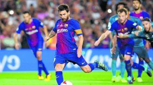 El líder futbolístico. Messi intentará ayudar a Barcelona a revertir la historia.