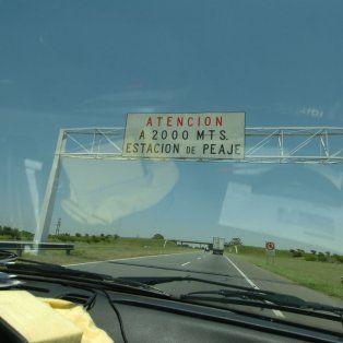 ladron irrumpe en el peaje de la autopista a santa fe y se llevo importante suma de dinero