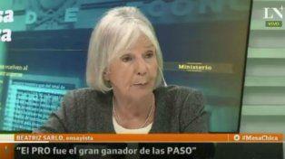Sarlo afirmó que el PRO fue el ganador y que Cristina no liderará al peronismo