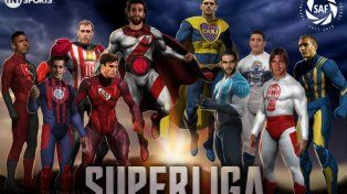 quienes son los superheroes de central y newells que integran las figuras de la superliga