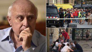 Dolor. El gobernador Lifschitz se refirió en Twitter al terrible atentado en Barcelona.