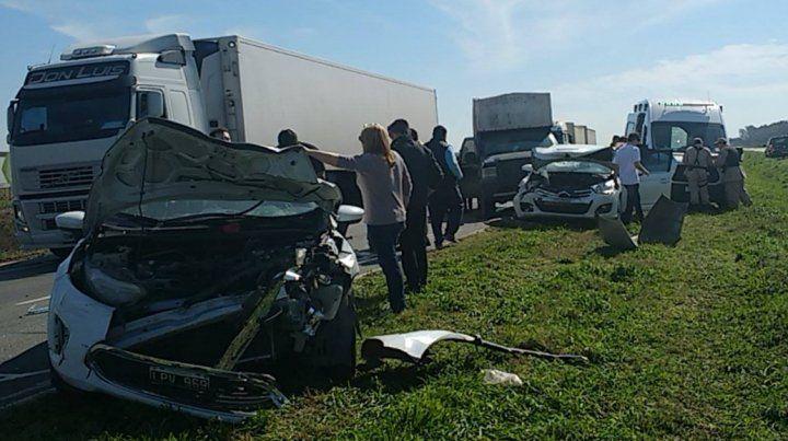 La imagen del accidente. (Foto vía Twitter:@HBruscaglia)