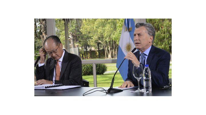 críticas. Macri cuestionó a la CGT en la conferencia que brindó con Jim Yong Kim