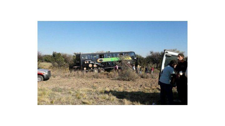 siniestro vial. El colectivo se despistó ayer a las 10:30 en el kilómetro 64 de la ruta provincial 1