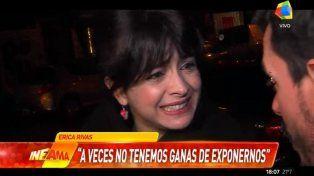 Erica Rivas respondió con ironía a los rumores de su mala relación con Ricardo Darín