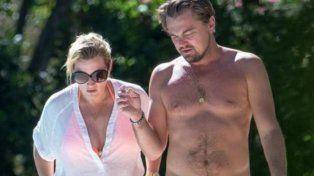 Leo DiCaprio y Kate Winslet se mostraron tan amorosos que ya hay rumores de romance
