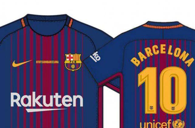 El Barsa usará una camiseta en homenaje a las víctimas del atentado ... 8f85cdab720