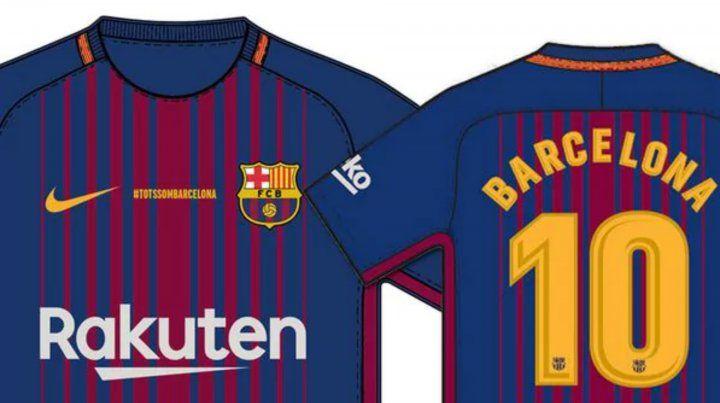 Hoy se dio a conocer el diseño de la camiseta que usará el Barsa en su próximo partido.