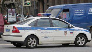 Efectivos de la policía rusa en el lugar del ataque.