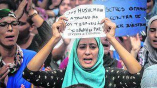 Solidaridad. La comunidad musulmana en Barcelona expresó su rechazo a la violencia y los atentados.