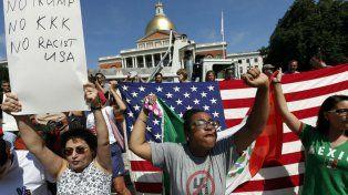 Marchas contra el odio y el racismo en Boston, EEUU