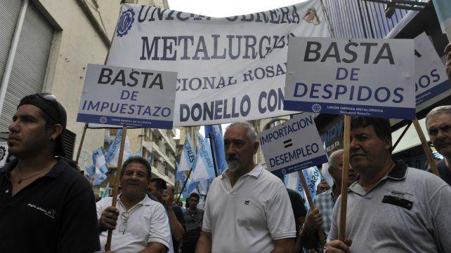 La UOM Rosario advierte que si no cambia el rumbo económico terminamos como en 2001